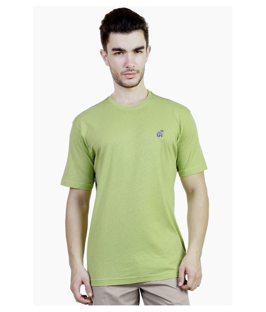 Caribbean joe Green Round T Shirt
