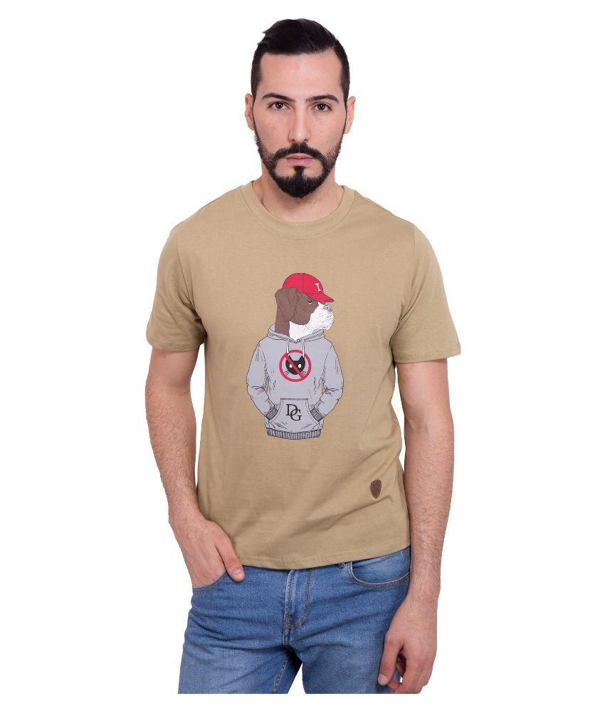 Dapple Grey Beige Round T Shirt