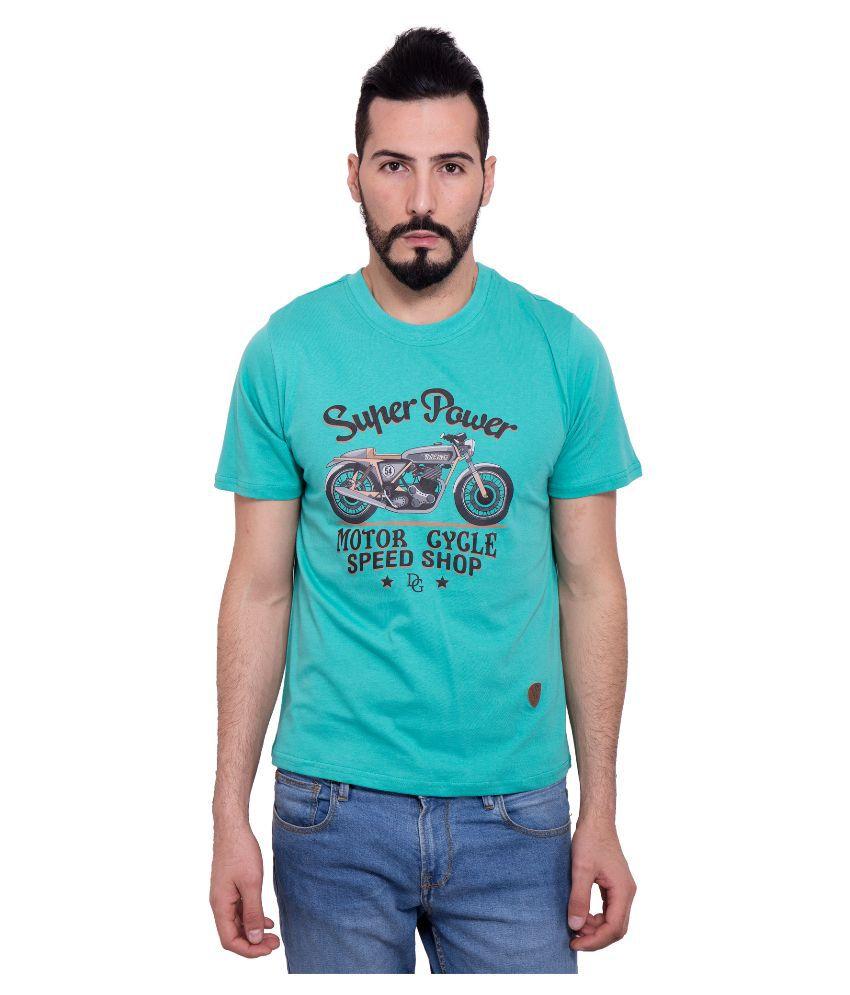Dapple Grey Green Round T Shirt