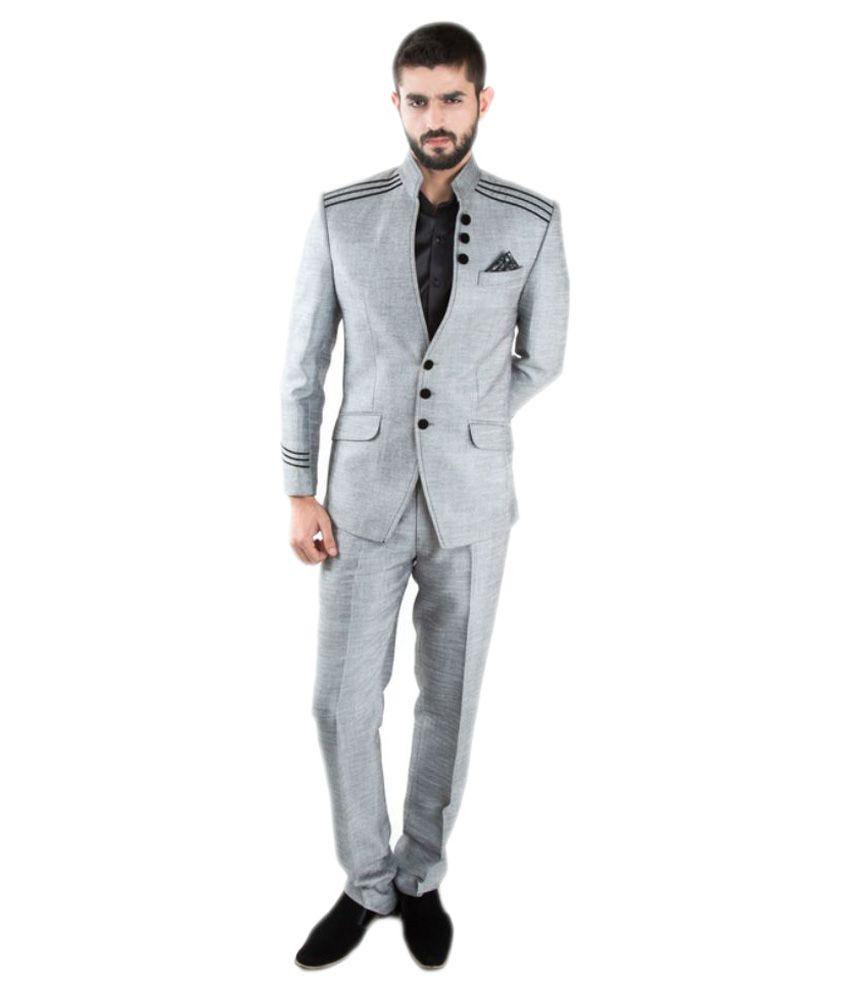Jahanpanah Grey Party Suits