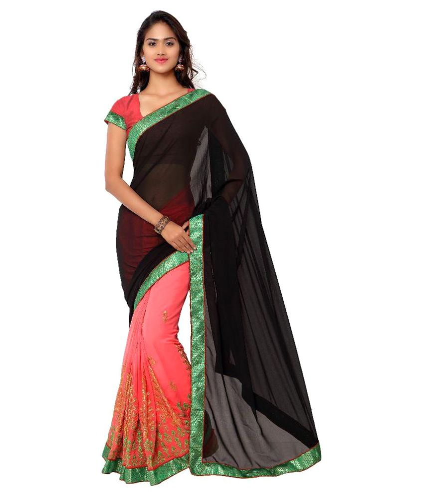 Ativha Saree Multi Color Georgette Saree