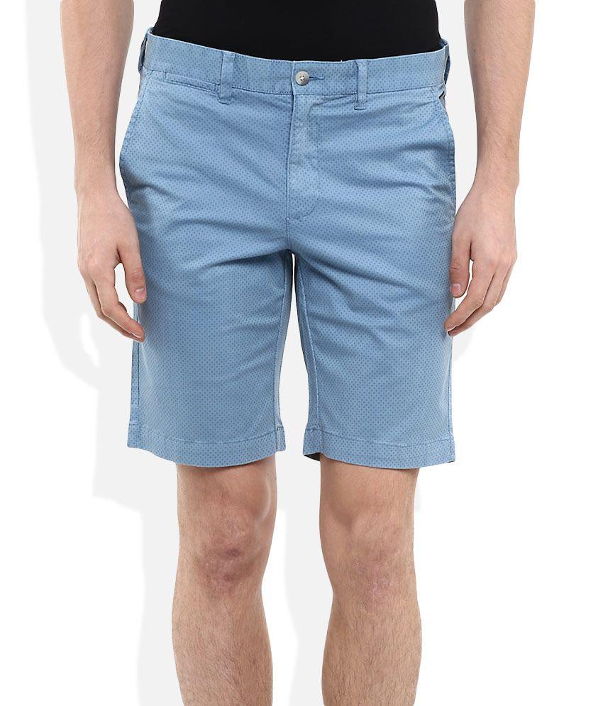 Daniel Hechter Blue Printed Shorts