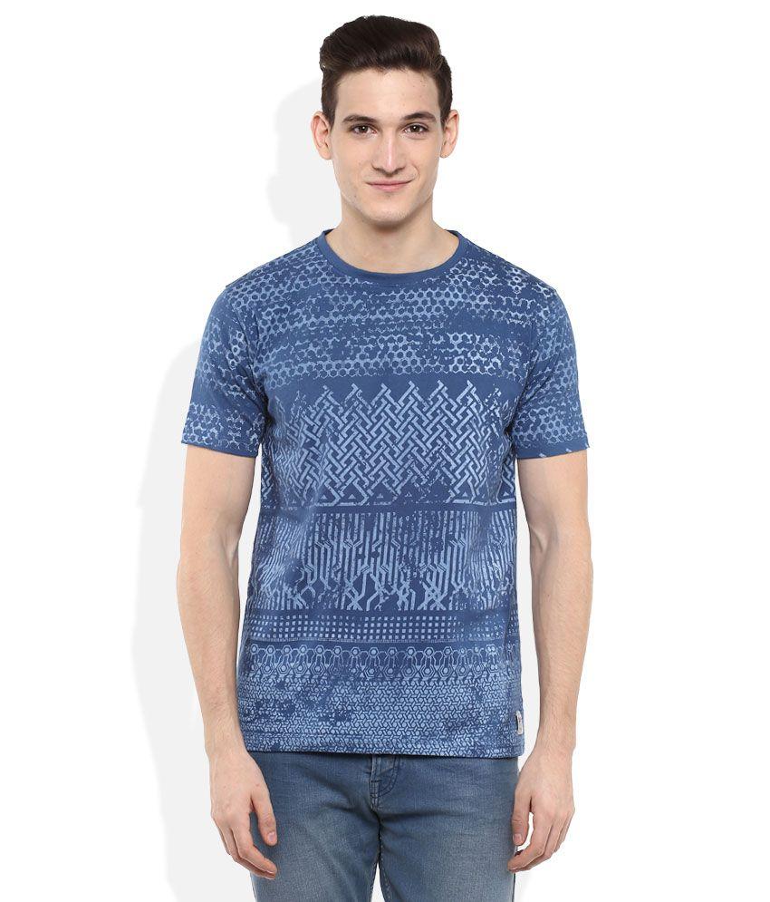 Daniel Hechter Navy Printed T-Shirt