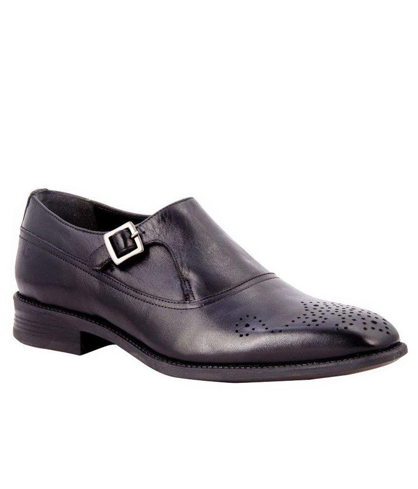 Salt N Pepper Black Formal Shoes at snapdeal