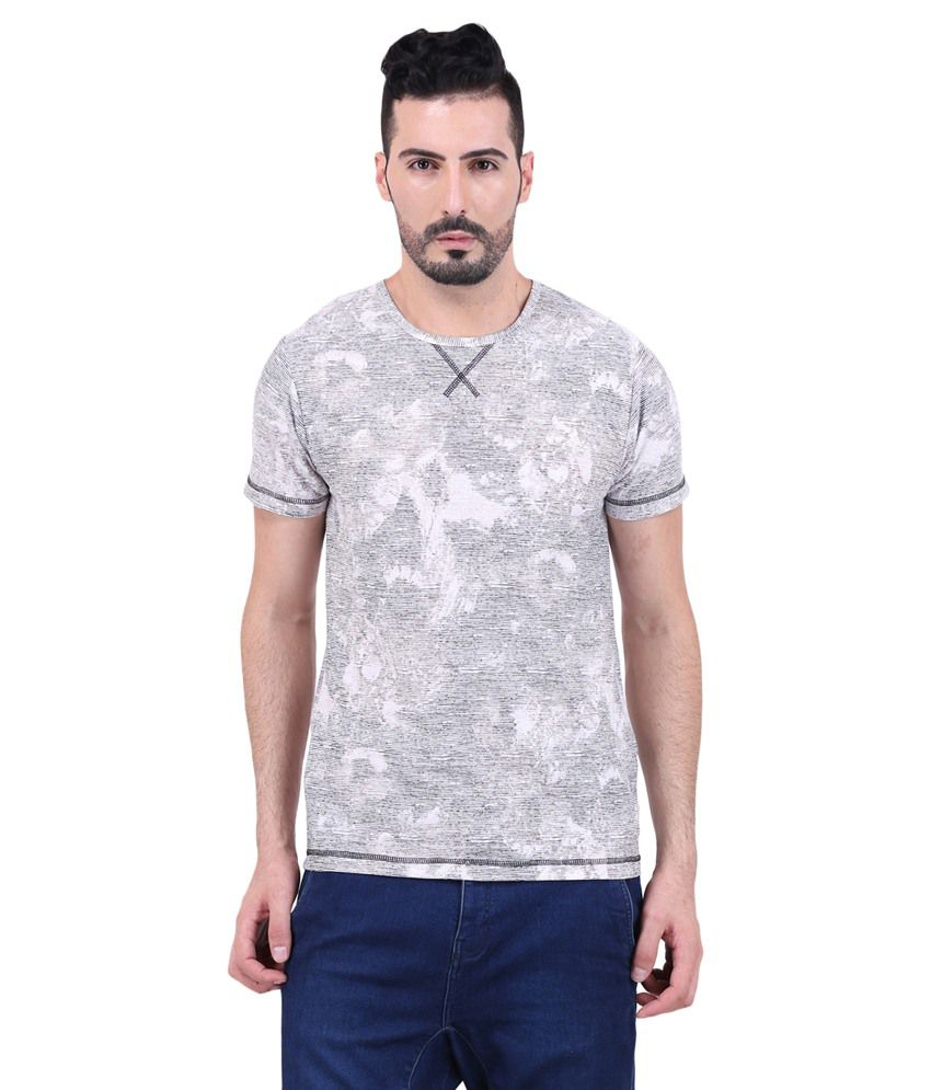 Mod Pluss Grey Round T Shirt
