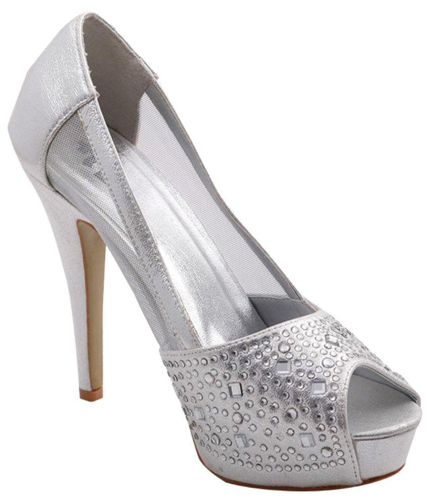Totes Gallore Silver Stiletto Heels