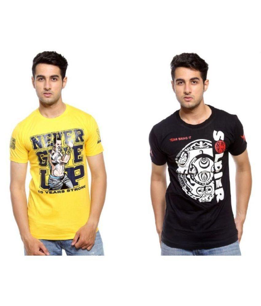 Trendmakerz Multi Round T Shirt Pack of 2