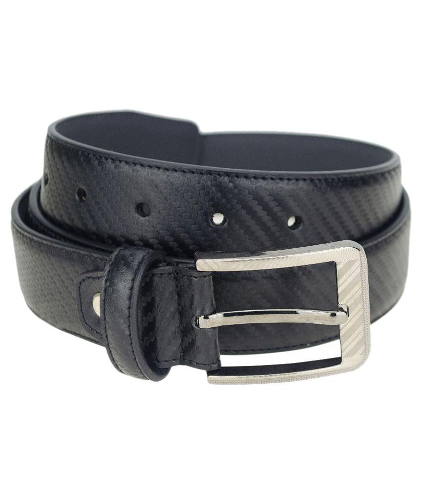 Kaos Black Casual Belt for Men