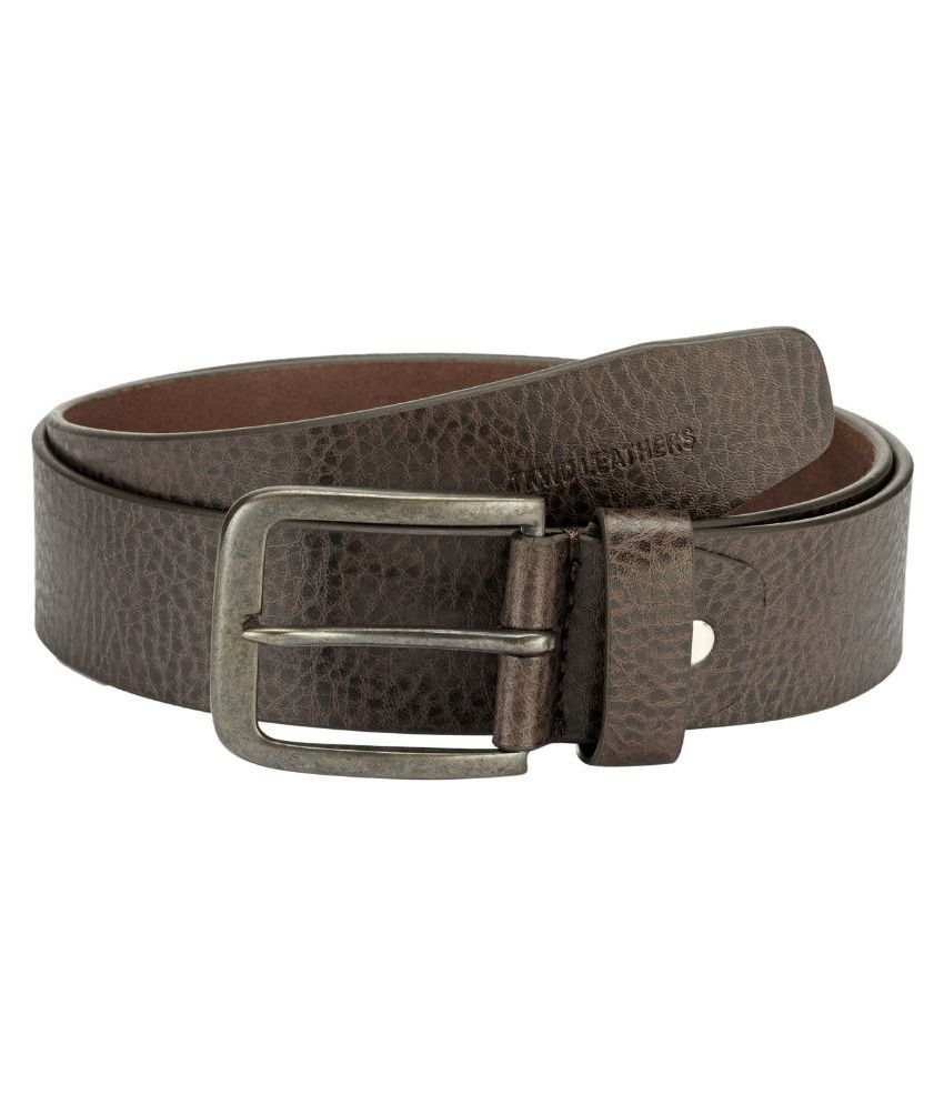 Teakwood Brown Leather Belt