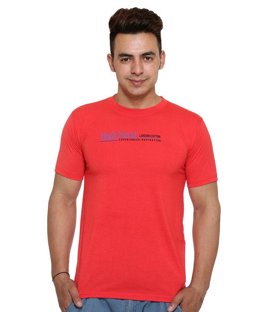 Vimal Red Round T Shirt