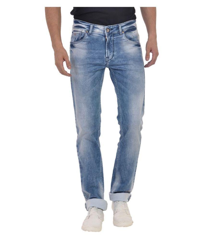 Wert Jeans Blue Slim Fit Faded Jeans