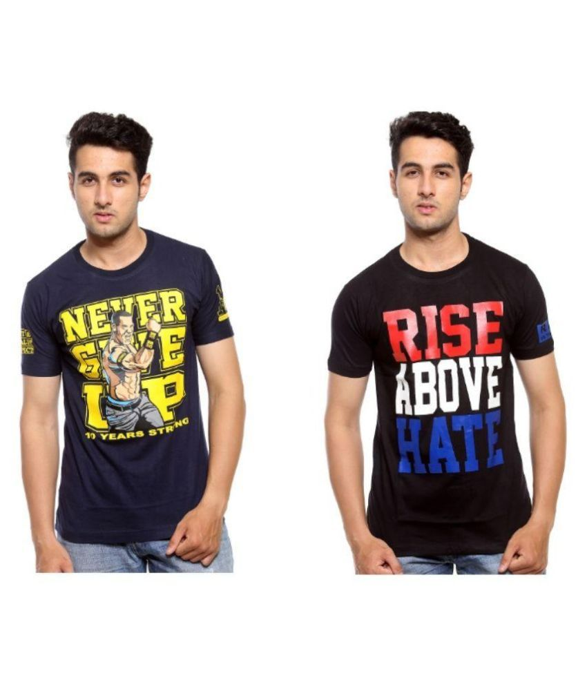 A4Attitude Multi Round T Shirt Pack of 2