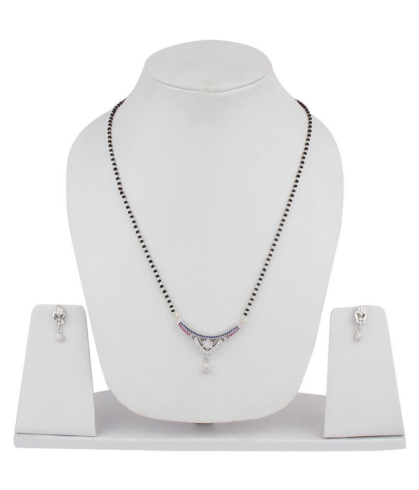 Jewel99 92.5 Silver Swarovski Mangalsutra set