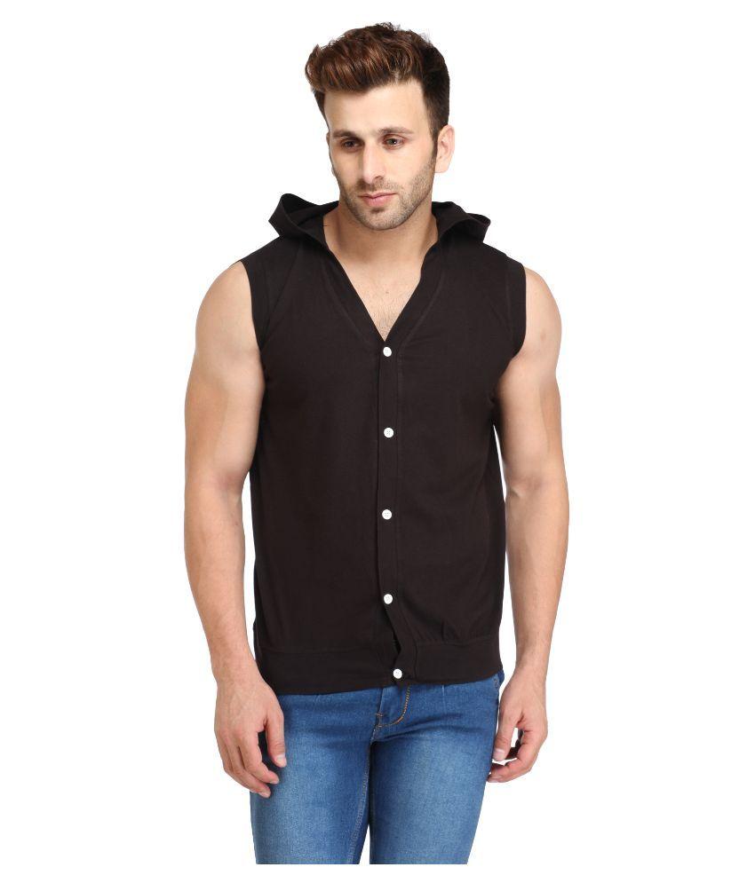 Leana Black Hooded T Shirt