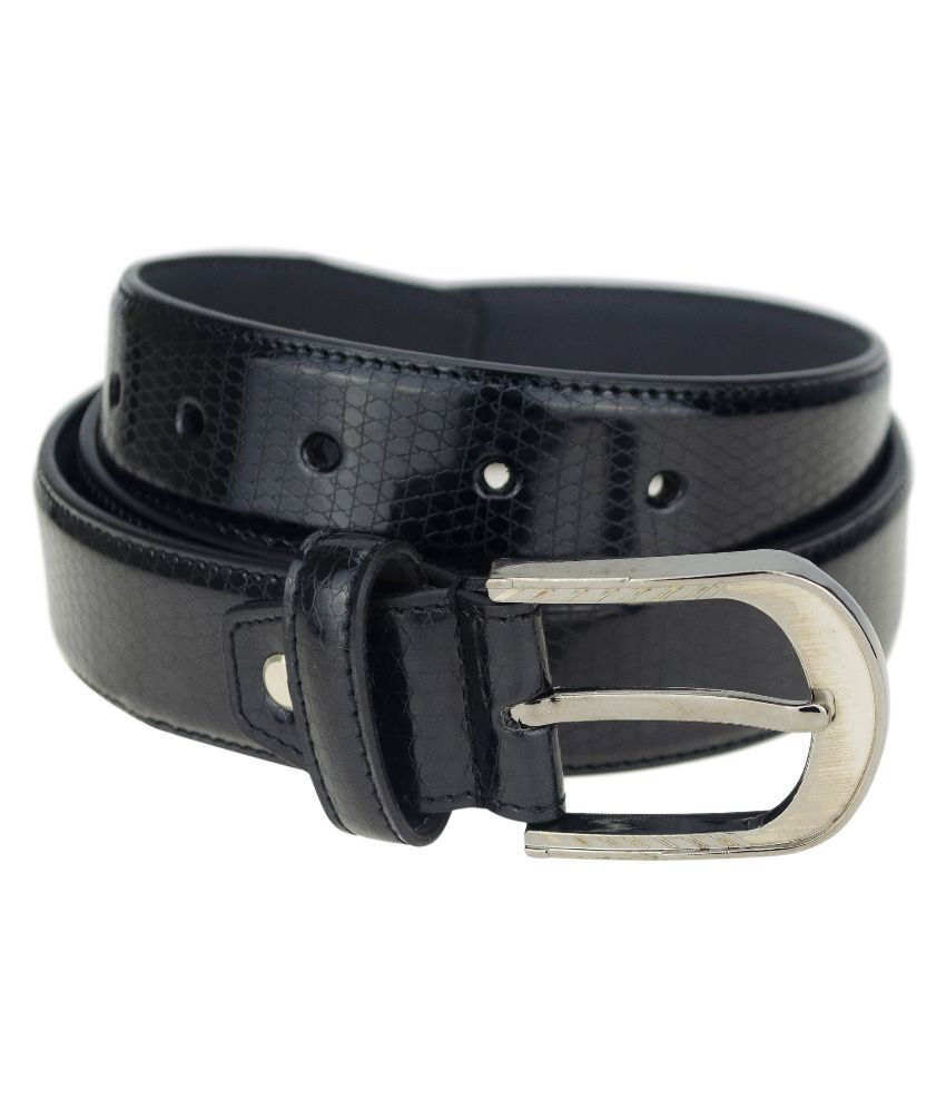 Kaos Black Casual Belt for Men