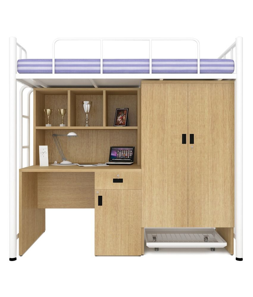 ... Unicos Jumbo Bunk Bed With Study Table In White U0026 Urban ... Part 34