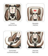 Luv Lap Baby Carseat Cream/Brown - 18165
