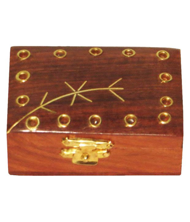 Antiqua V Group Brown Wood Jewellery Box