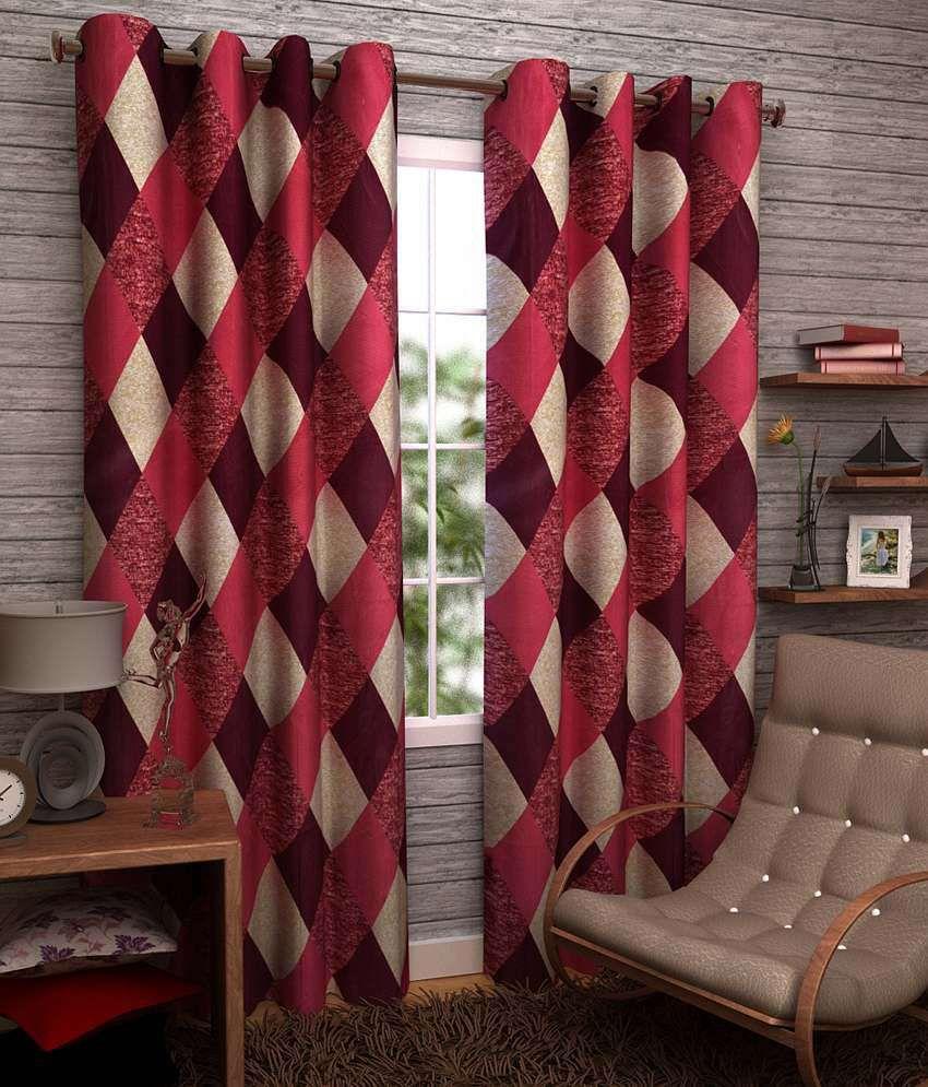 Homefab India Set of 2 Long Door Eyelet Curtains