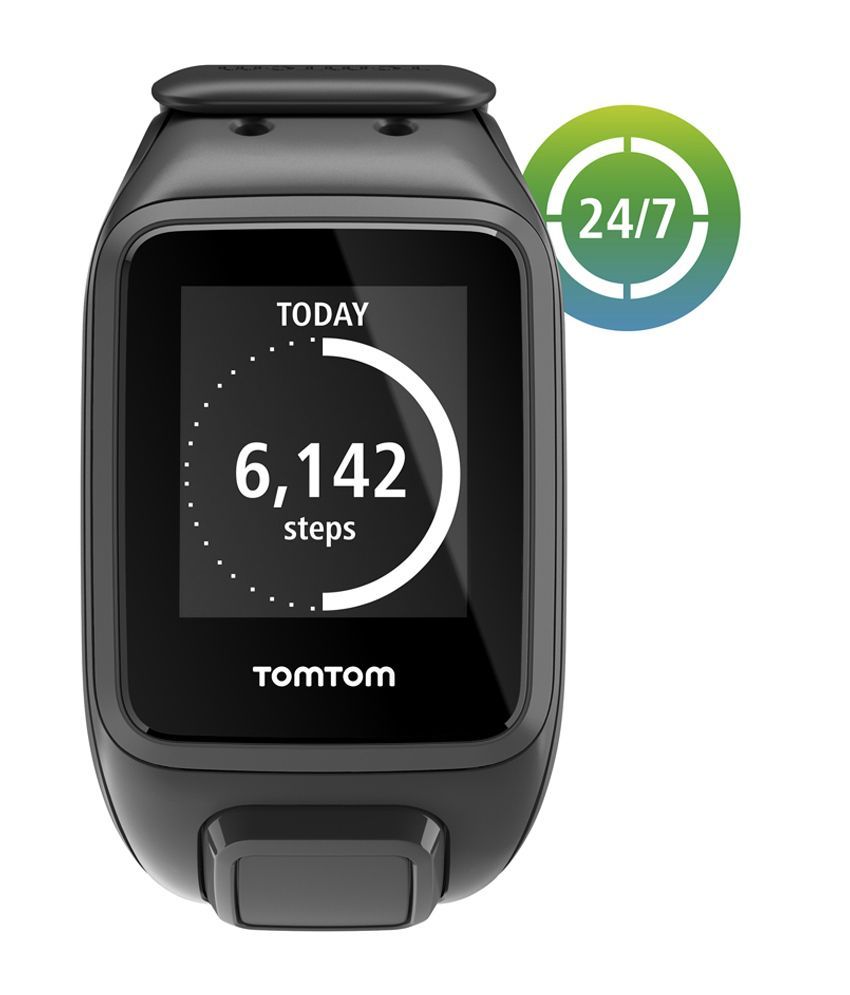 tomtom spark gps fitness watch black buy online at best price on snapdeal. Black Bedroom Furniture Sets. Home Design Ideas