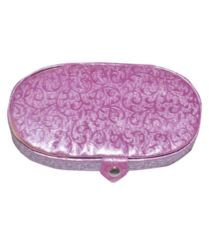 Yash Big Designer Purple Fabric Jewellery Box