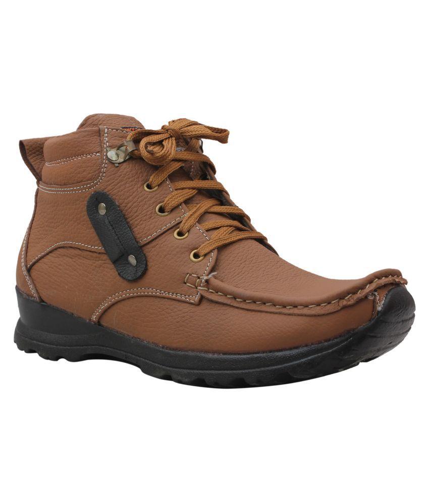 BrandTrendz Tan Boots
