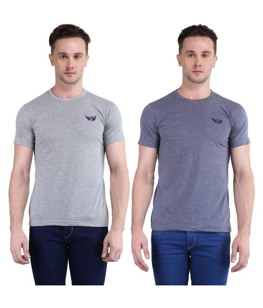 Bravezi Grey Round T Shirt
