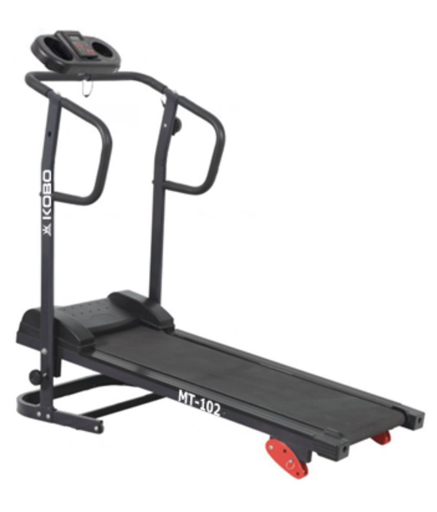 Kobo black manual treadmill for home gym cardio buy