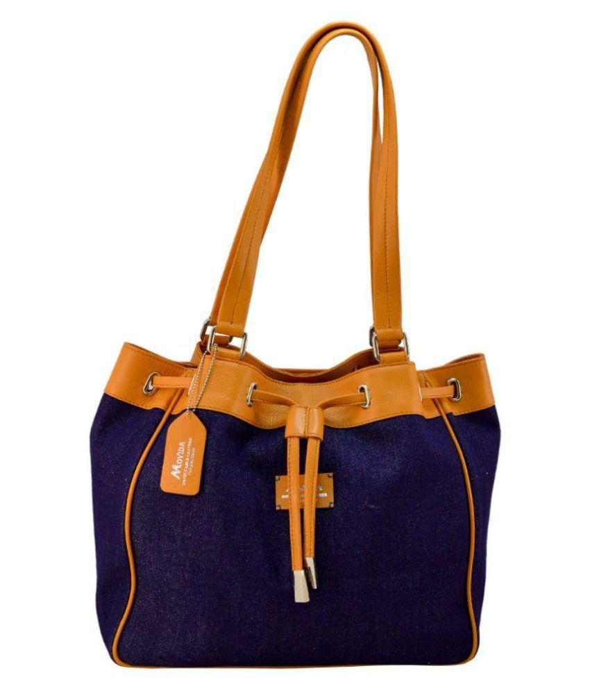 Movida Design Blue Pure Leather Shoulder Bag