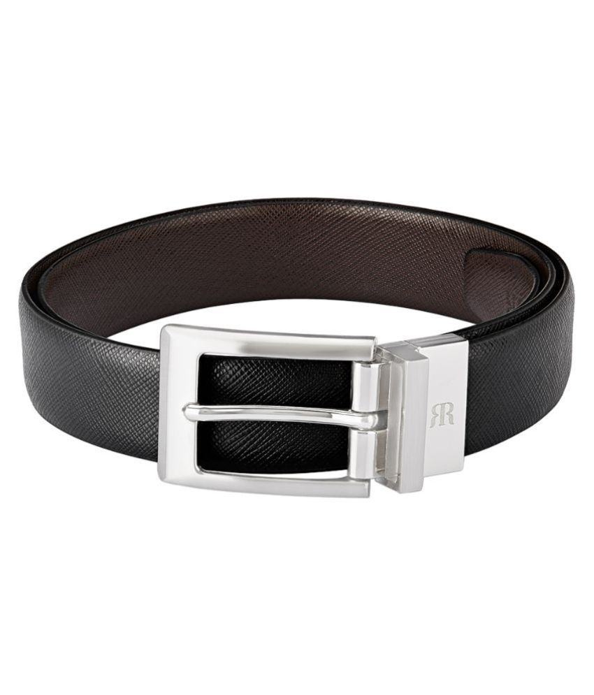 9b93aa51133 Raymond Black Leather Reversible Belt For Men  Buy Online at Low Price in  India - Snapdeal