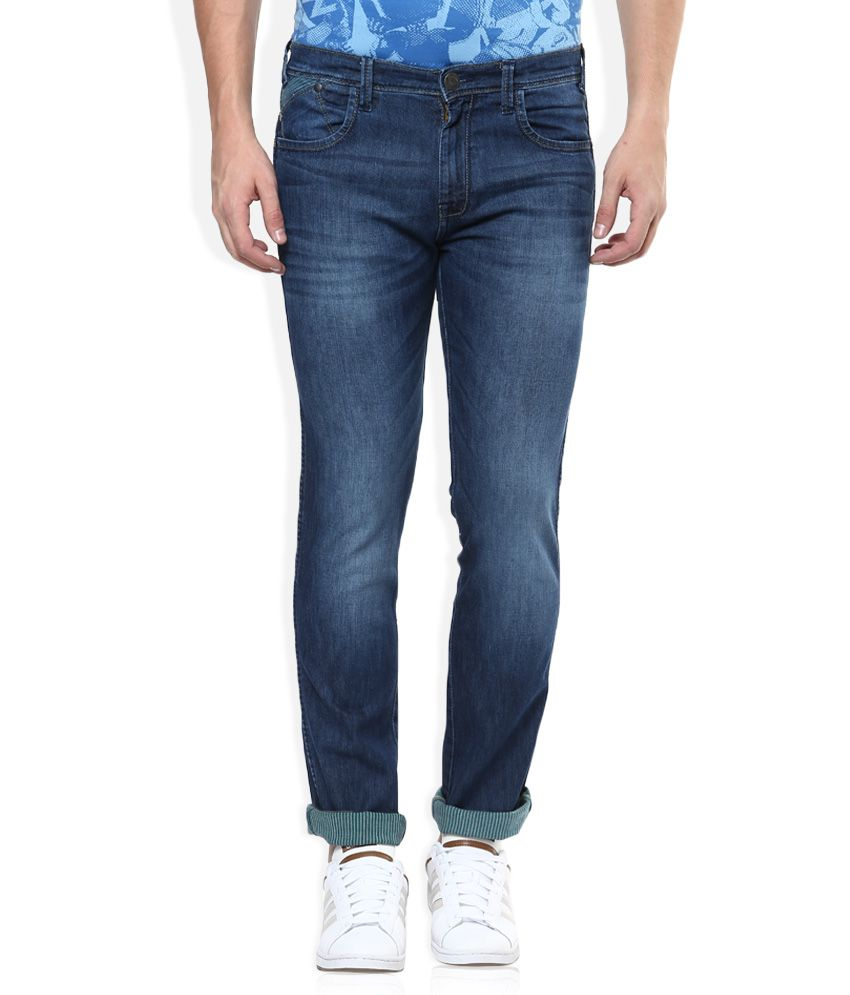 Wrangler Blue Greensboro Regular Fit Jeans