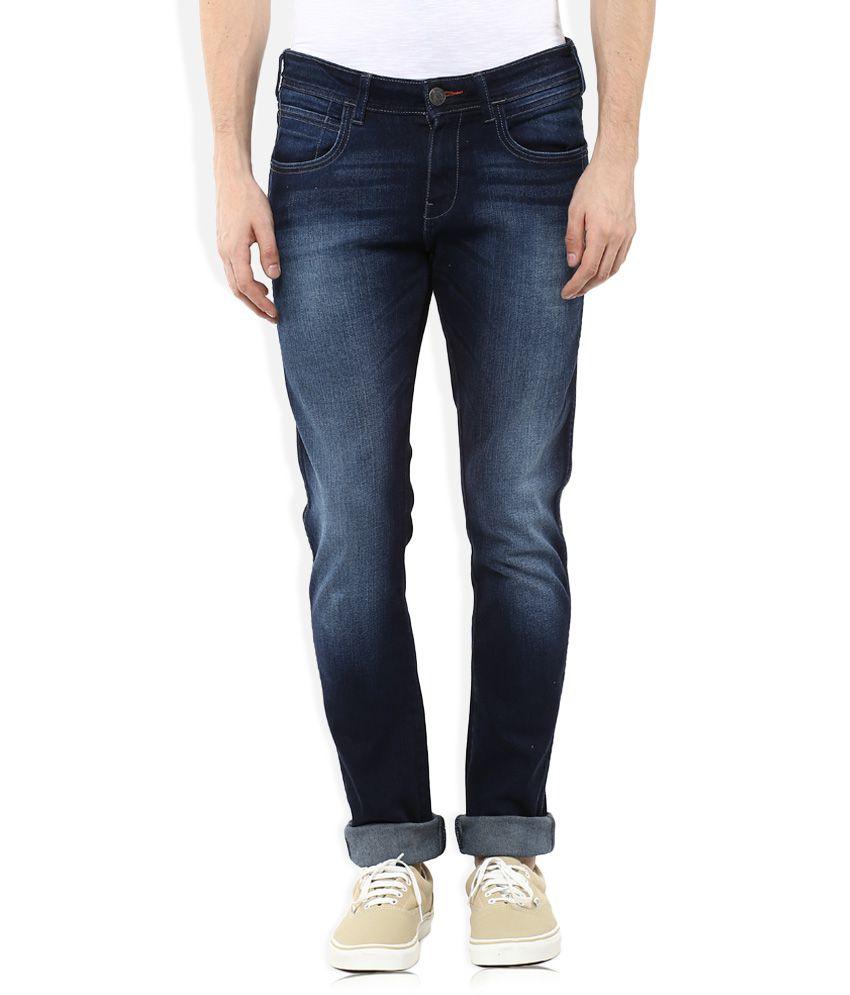 Wrangler navy blue skinny fit jeans (vegas)