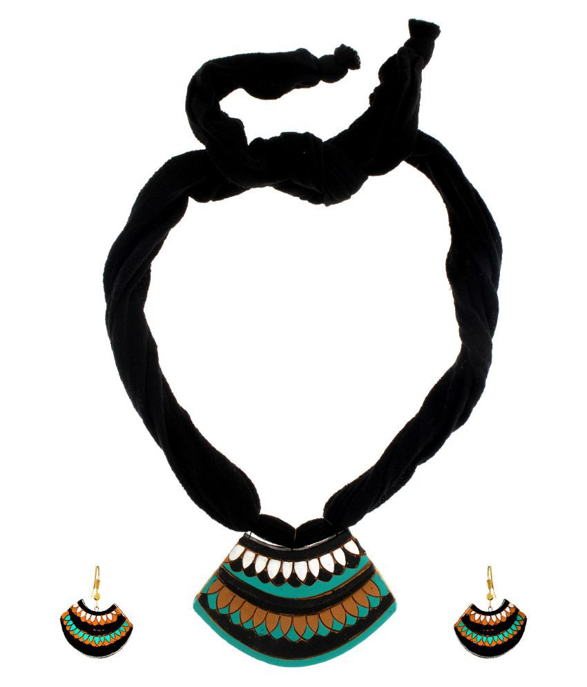 Anuradha Art Black Necklaces Set