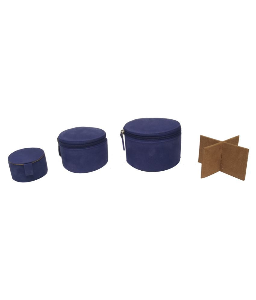 Essart Blue Leather Jewellery Boxes