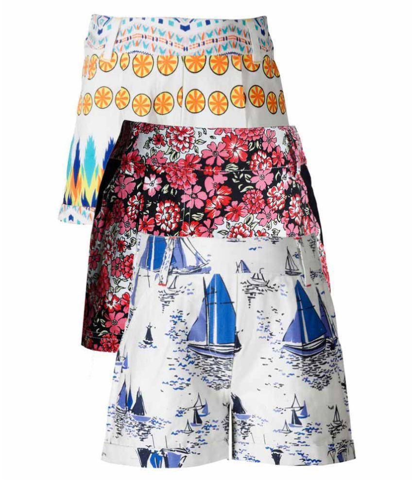 Naughty Ninos Multicolour Shorts - Pack of 3