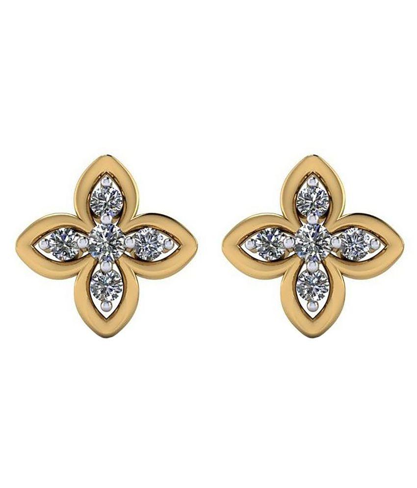 Gehnabox 18kt Gold Diamond Studs