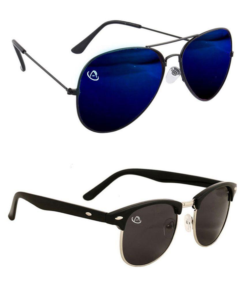 Aventus Multicolor Aviator Sunglasses ( COMS05S12 )