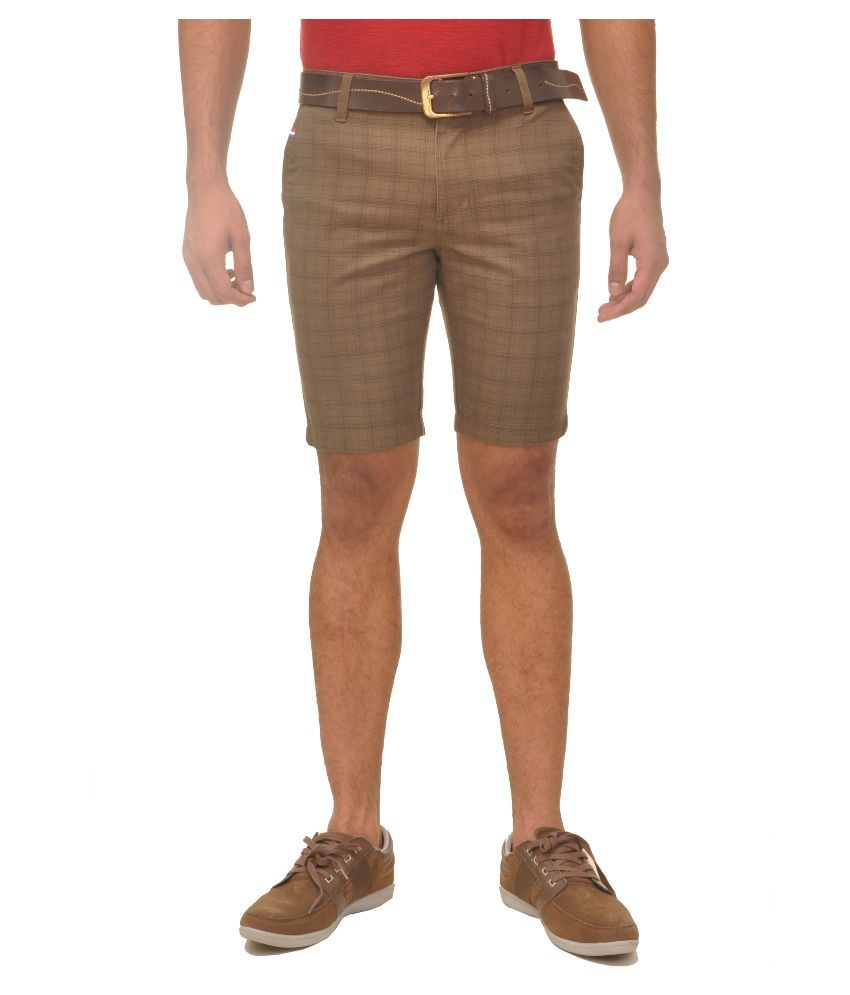 Fire On Brown Shorts