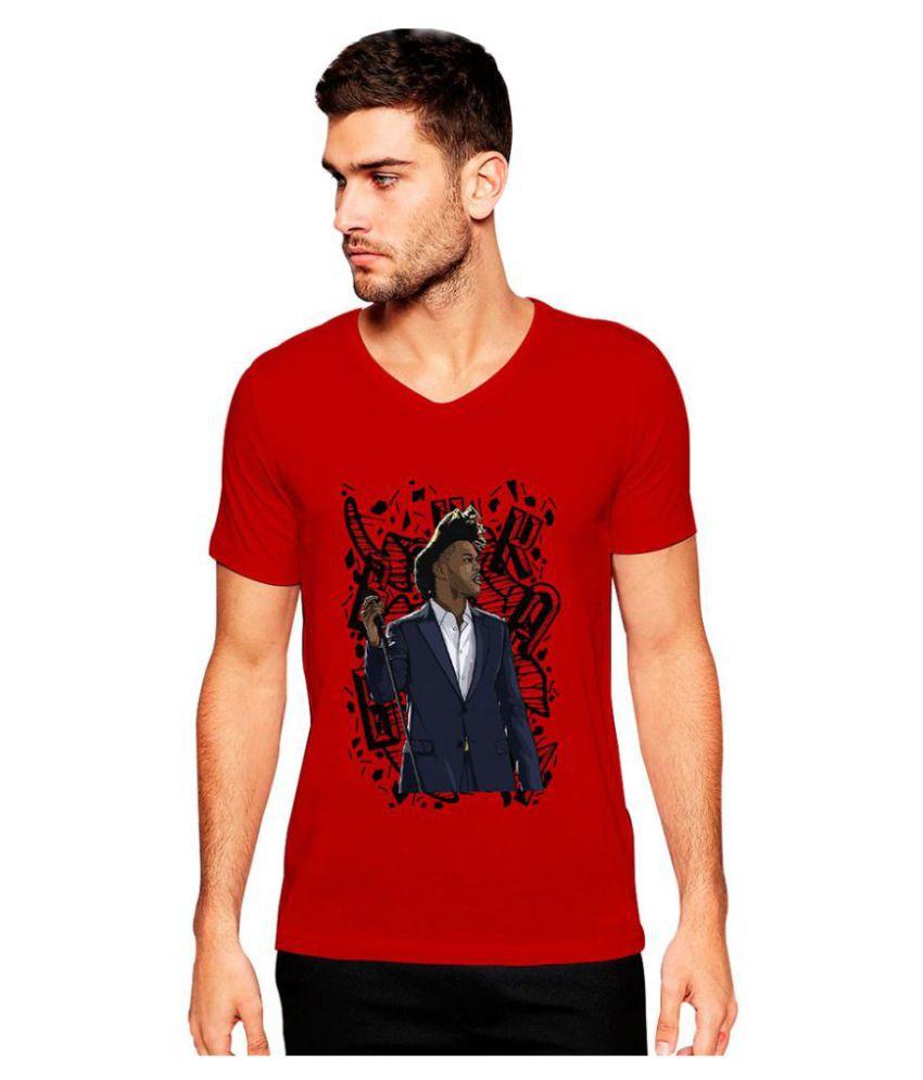 Uptown 18 Red V-Neck T Shirt