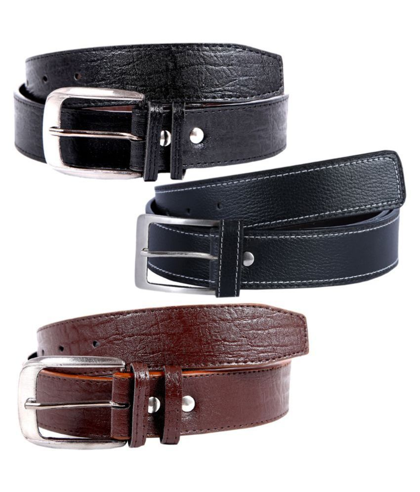 Hardy's Collection Multicolour Casual Belt for Men - Pack of 3