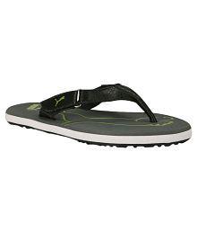 Puma Black Flip Flops