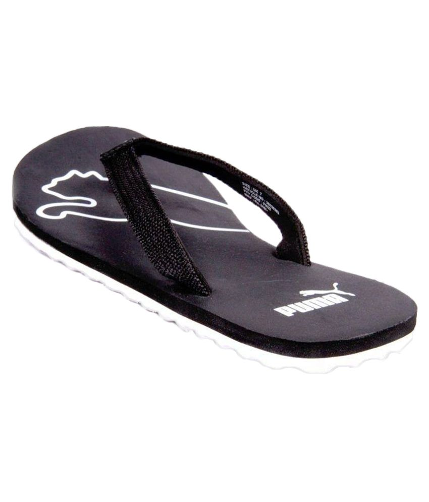 puma black flip flops buy puma black flip flops online. Black Bedroom Furniture Sets. Home Design Ideas