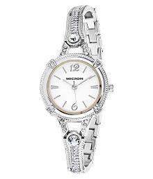 Micron Silver Analog Watch