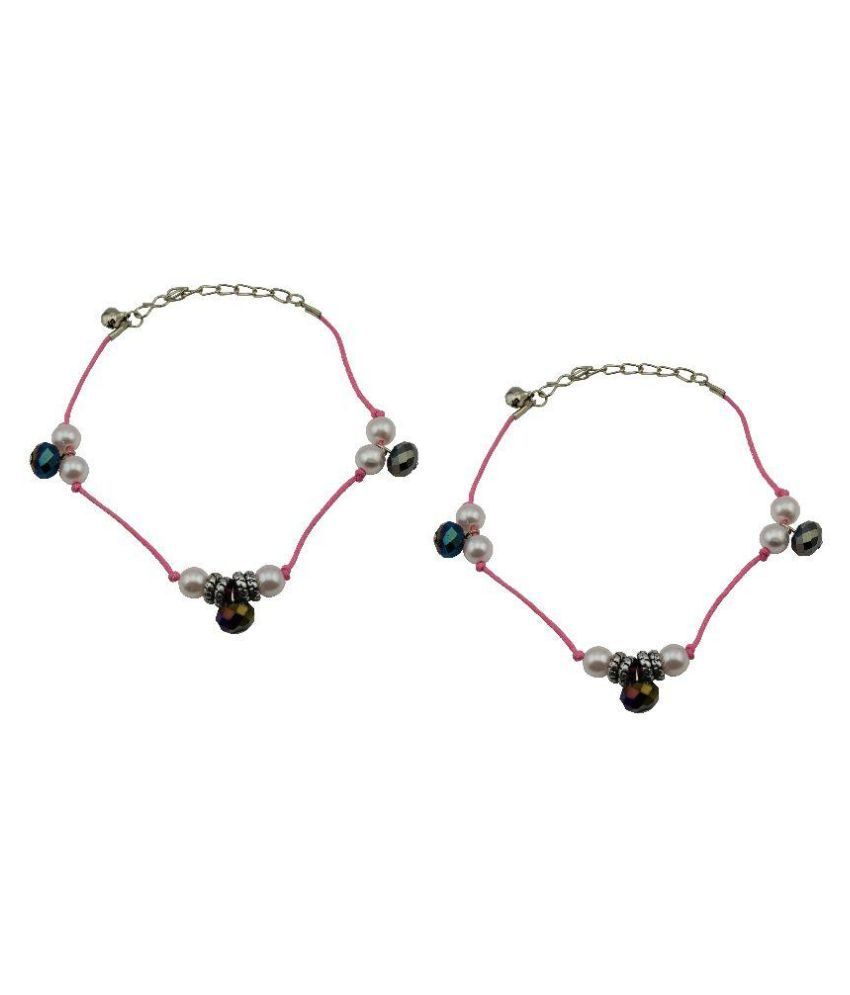 High Trendz Multicolour Pair of Anklets