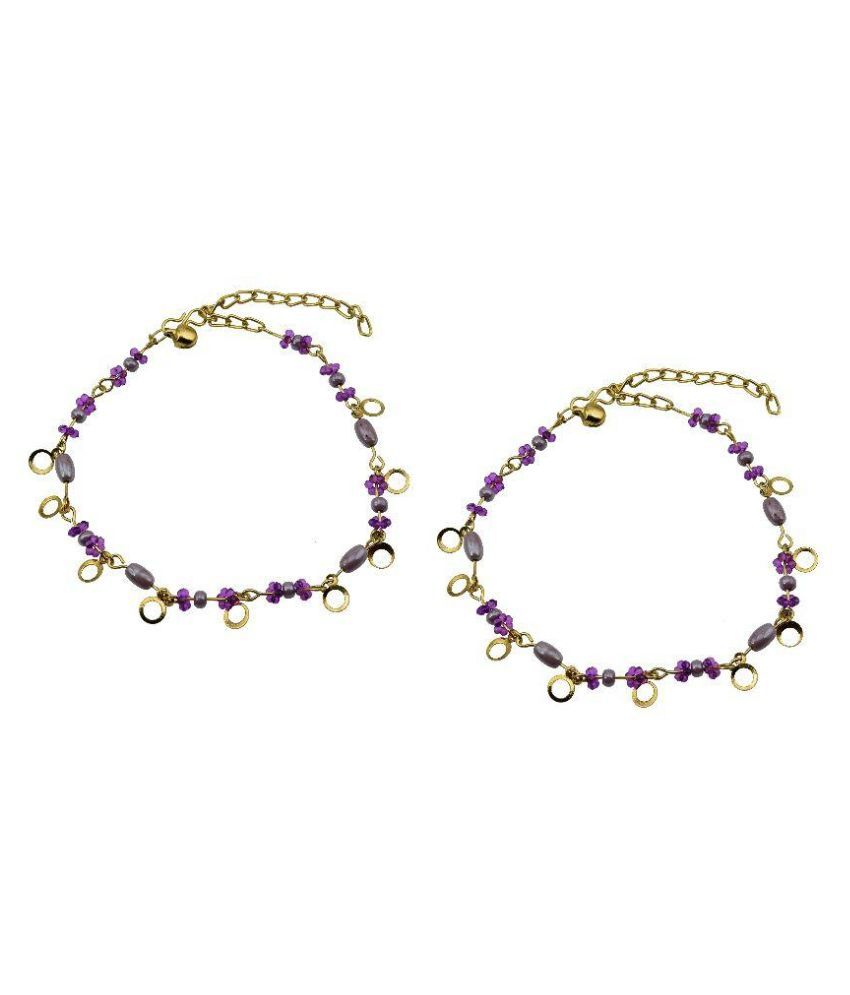 High Trendz Purple Pair of Anklets