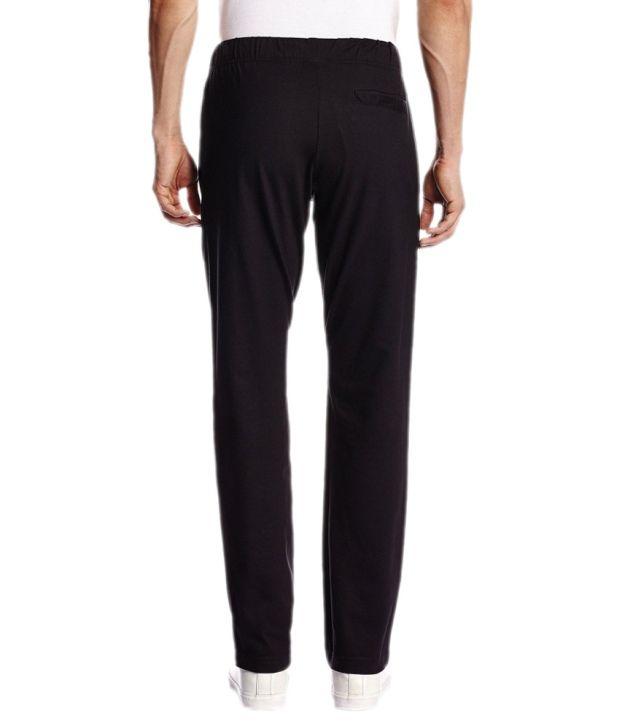 Nike Black Cotton Track Pants for Men