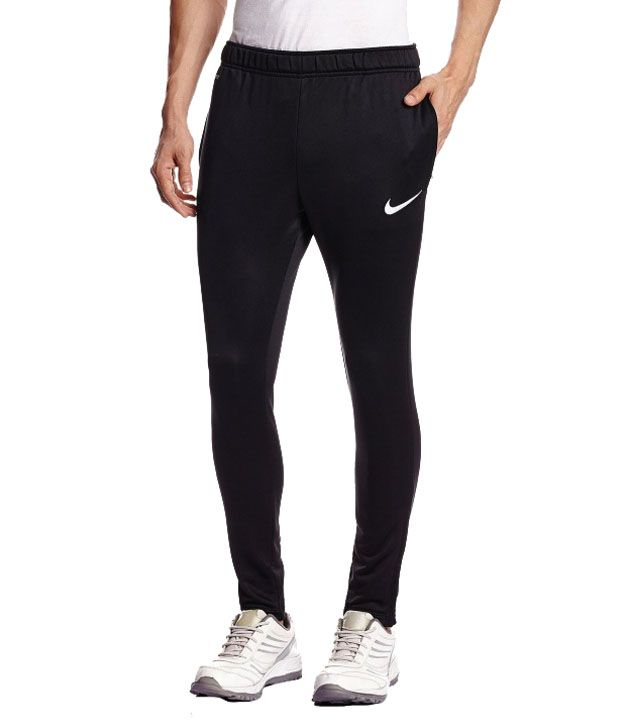 Nike Black Polyester Trackpant / Track Pant For Gym Wear