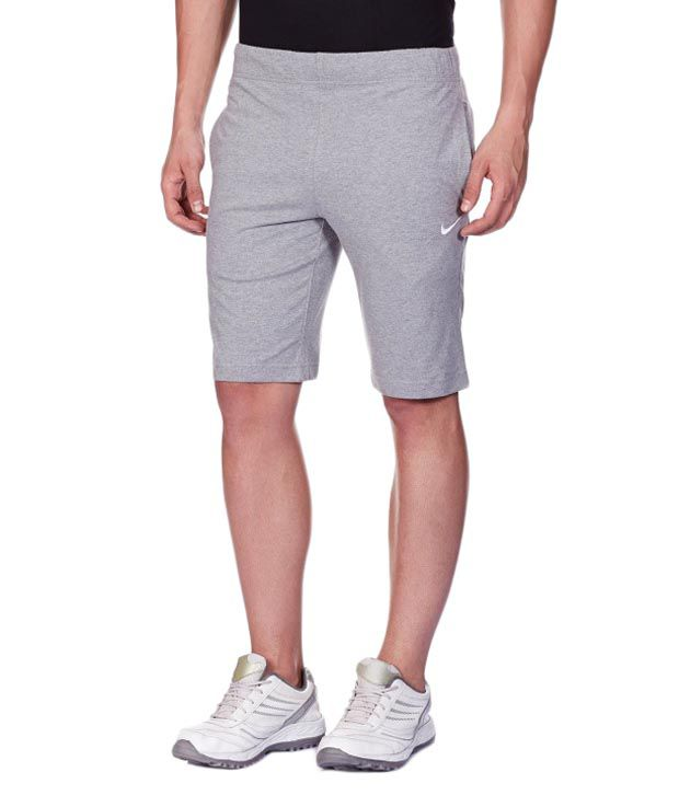 Nike Grey Synthetic Shorts for Men