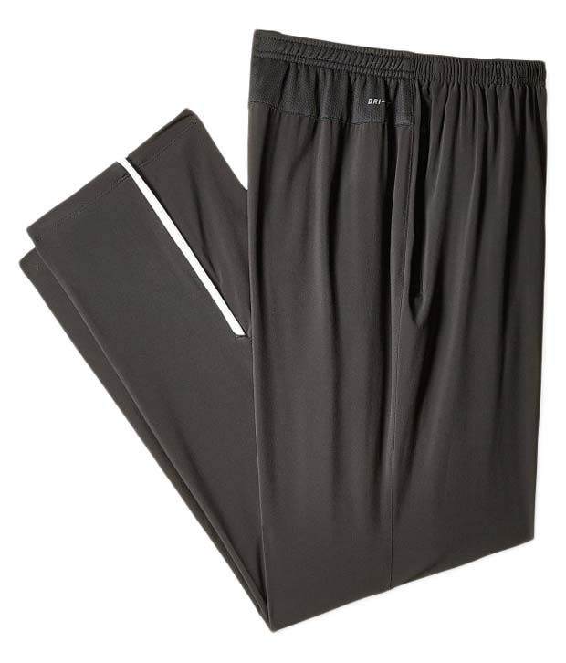 Nike Grey Synthetic Track Pants for Men