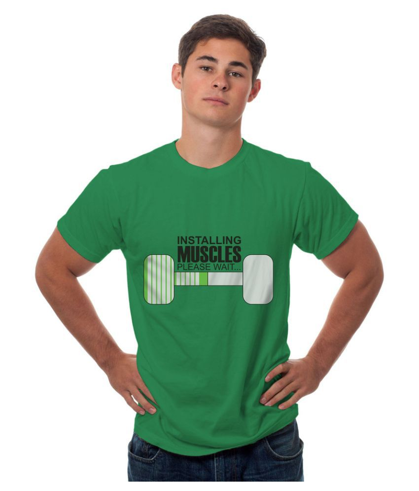 Sowing Happiness Green Round T Shirt
